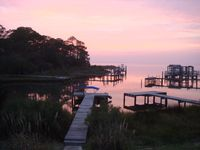 Waterfront Pool Home, Dock, Four Master Suites ,Walk to Beach