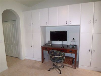 Office with Flat screen Xfinity HDMI TV and internet access with WIFI.