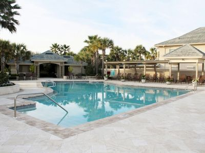 Ocean Village community pool with beach access steps away