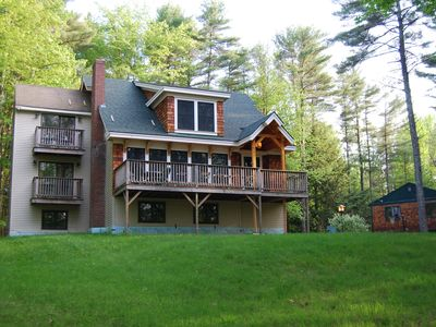 Moultonborough house rental - Large deck accessed from living room.