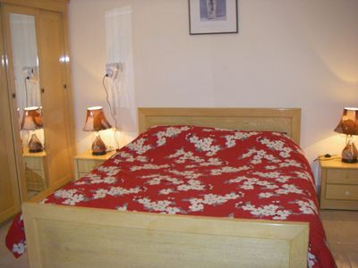 Double bedroom with TV/DVD combi and hairdryer