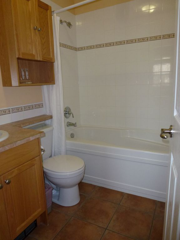 Bathroom separates bedrooms