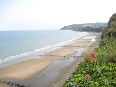 Early evening view of Shanklin sands