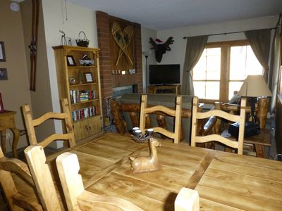 Dining area. looking toward living area and our mascot puppet moose :-)