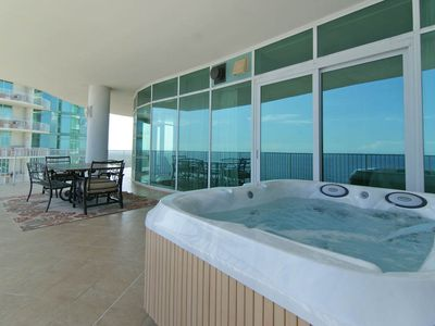 the wraparound balcony comes with it 39 s own private hot tub and more