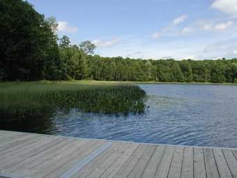 Quite Lake with dock - perfect for swimming or canoeing