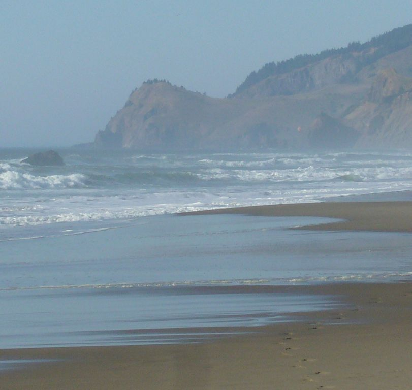 View of Cascade Head from our Beach.