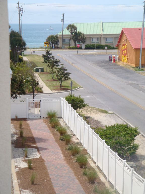 View of Gulf of Mexico from balcony on rear of house