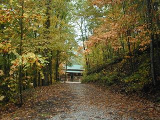 Bryson City cabin photo - Street View (Fall)