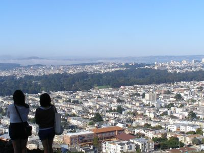 San Francisco apartment rental - The view looking east from Grandview Park just 1 block away