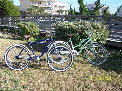 Emerald Isle house rental - Two fun adult bikes