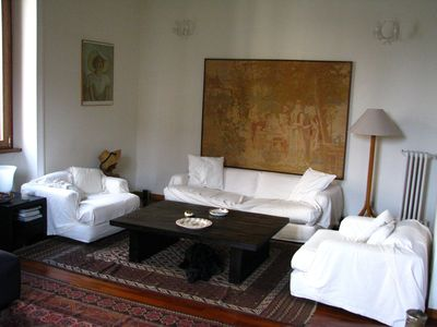 Villa Borghese & Parioli area apartment rental - Living room