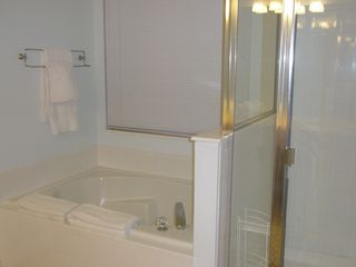 Windsor Palms house photo - Master bathroom 1 - with full size tub, walk-in shower and dual vanity sinks