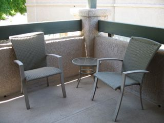 Tucson condo photo - Restful chairs on the outdoor patio - sip your morning coffee or read the paper