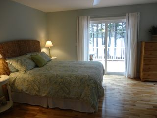 Bridgton house photo - Deck access from master bedroom