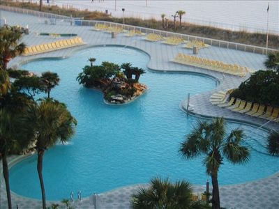 Beach Front Lagoon Pool ( 11,000 sq. ft.)