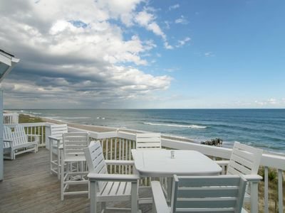 Oceanfront deck off living room.  Can be accessed from master bedroom as well.