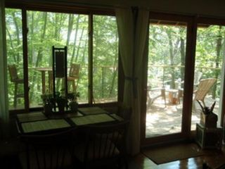 North Stonington house photo - Late afternoon: calm and relaxing inside, sunny on the spacious deck