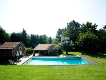 Pool Area with Sauna and Annexe House