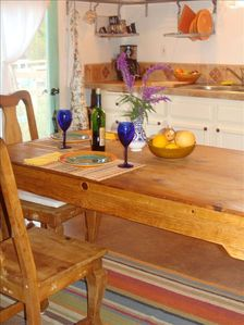 Well appointed kitchen and seating for six in Casita II