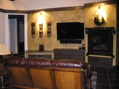 Family Room with Large Screen TV