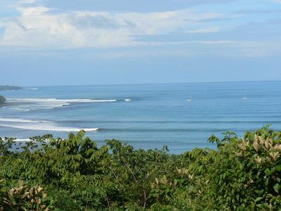 Playa Zancudo house rental - Pilon Point from our deck!! No Surf Report Needed
