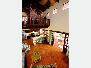 Playa Negra house photo - Great Room and Loft Bedroom, vaulted ceilings, ocean views, nearby estuary