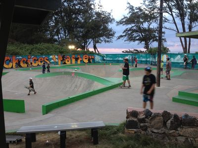 Paia youth cultural center, skate park.