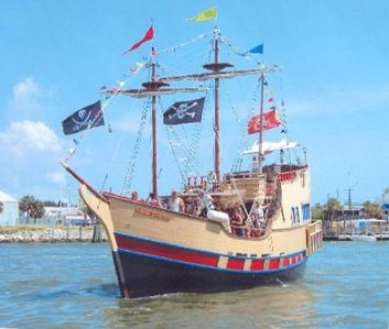 The Pirate Ship at John's Pass.  Cruise on a real pirate ship with real pirates!