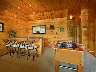Pigeon Forge cabin photo - Wet Bar on the Terrace Level. Foosball, anyone??