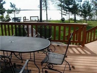 Wisconsin Dells house photo - Large entertaining deck overlooking the water