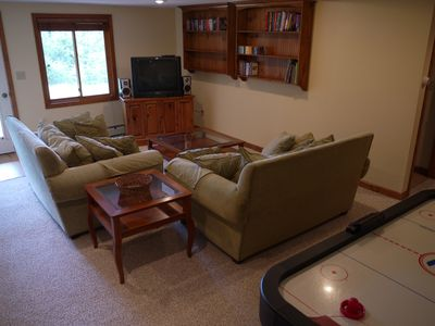 Lower level living area.
