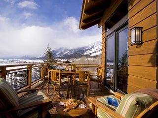 Teton Village lodge photo - Stunning outdoor lounge with gas grill