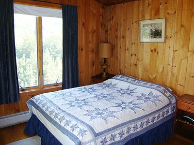 Queen Master Bedroom with Full Bath with 2 Windows Facing the Meadow & Mountain