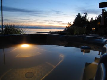 The hot tub at sunset