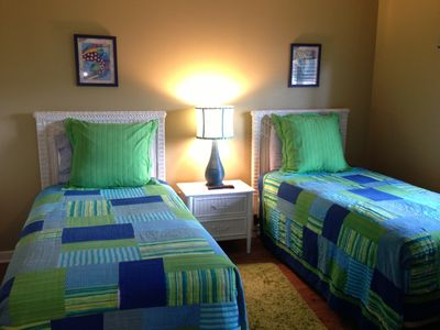 Windy Hill condo rental - Guest Bedroom with two twin beds and adjoining full bath