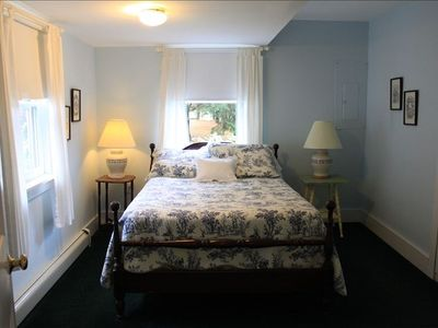 Bar Harbor house rental - Charming guest room with lovely second bathroom just across the hall