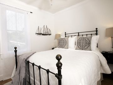 Avila Beach cottage rental - Dream your cares away in one of two luxurious plush beds at Casa San Miguelito.
