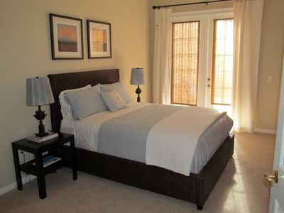 GUEST BEDROOM WITH FRENCH DOORS TO OWN PATIO