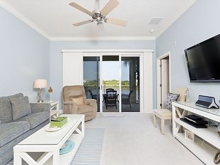 Ormond Beach condo photo - Enjoy our beautiful new living room with large HDTV & views