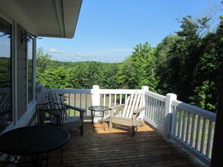 Crystal Mountain, Thompsonville condo photo - Private Deck for Entertaining Outside