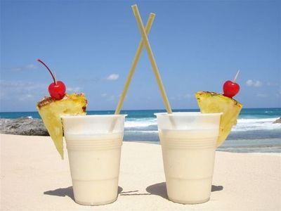 Treat yourself to a pina colada.