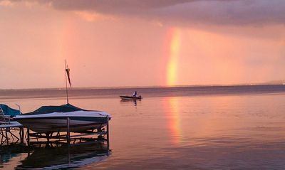 Lake Winnebago house rental - Fishng for the Pot of Gold in front of the house