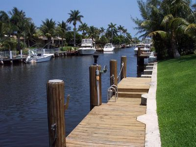 Dock on Intracoastal waterway