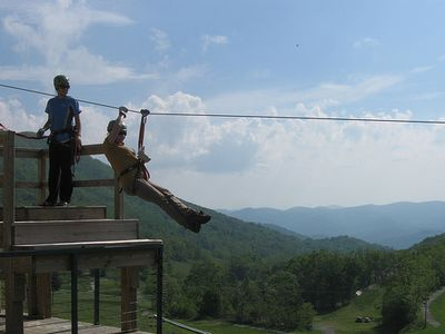 Zipline at Hawksnest