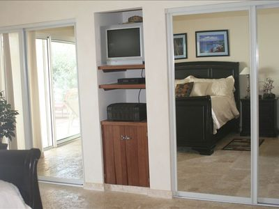 Master Bedroom-large sliding closets & cable TV