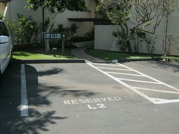 Our great reserved parking spot!