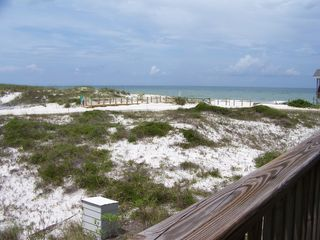 Cape San Blas house photo - Looking at the boardwalk to beach only 200 ft away