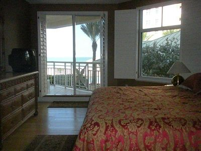 Master bedroom with gorgeous view of Gulf of Mexico