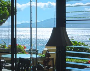 Maalaea condo photo - Gorgeous view of Haleakala & the ocean right from your lanai and living room.